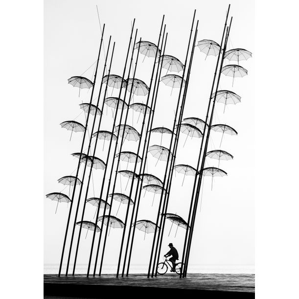Under the Umbrellas by George Digalakis