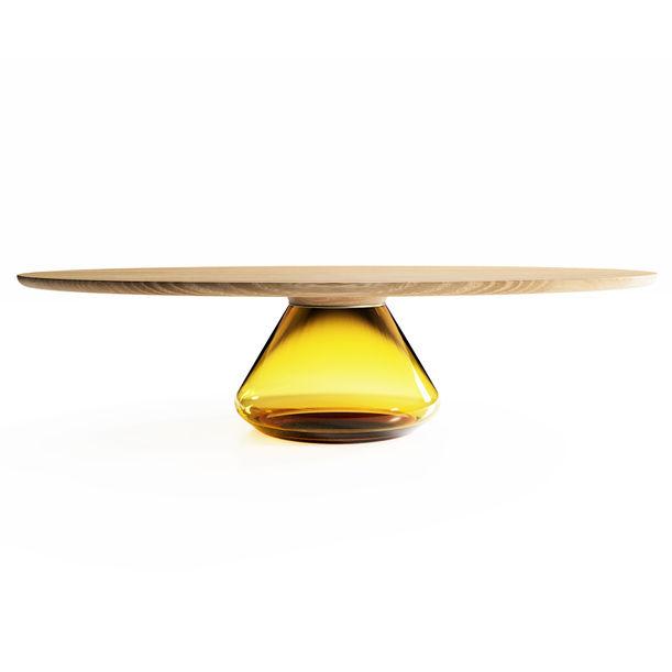 """Amber Eclipse"" Contemporary Coffee Table by Grzegorz Majka"