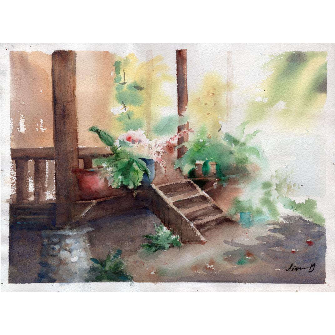 Afternoon tea in Bali by Diana Natalie