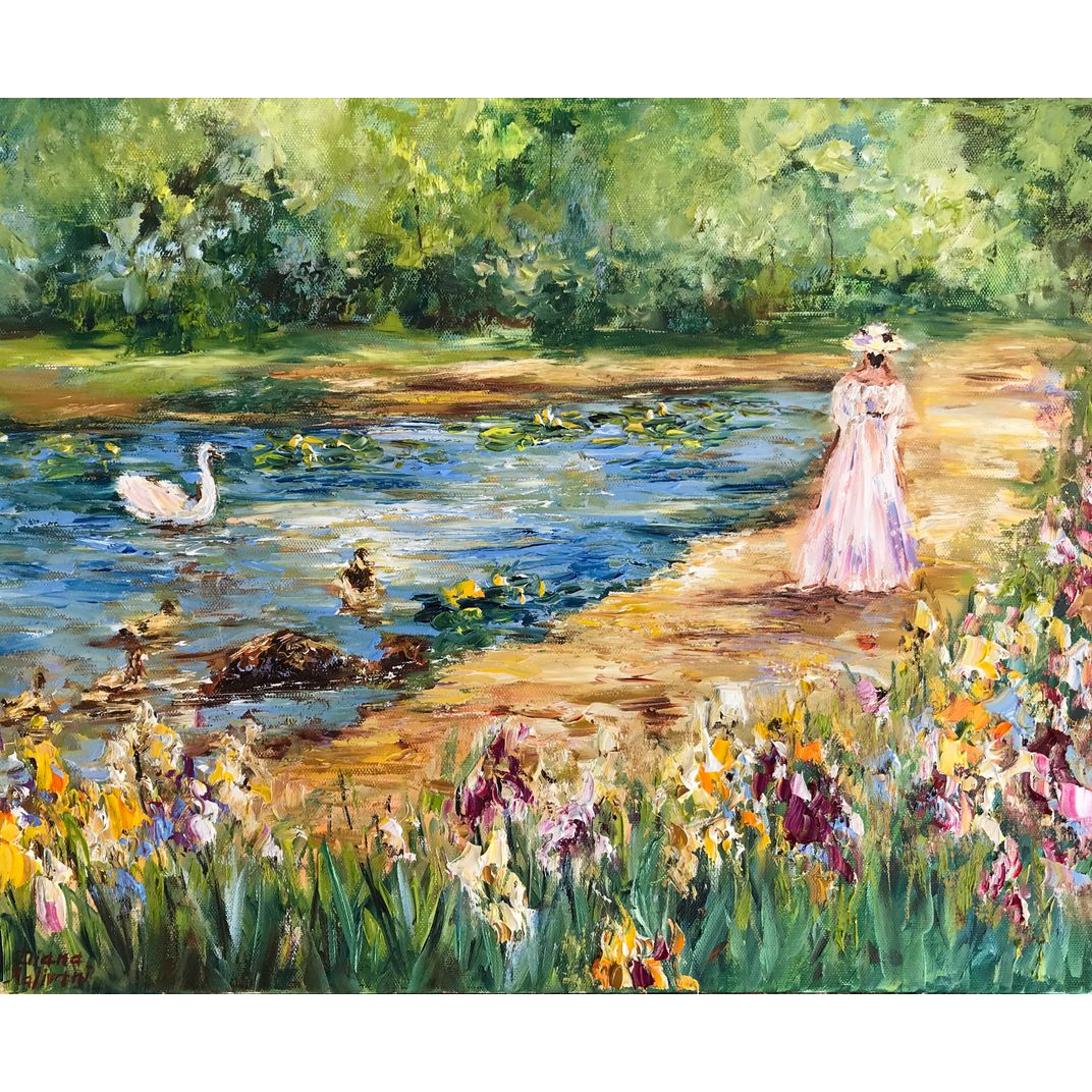 At the Pond by Diana Malivani