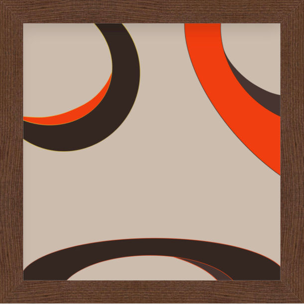 """""""Our eyes"""" - abstract digital print, warm colors, earth tones by Pletneva"""