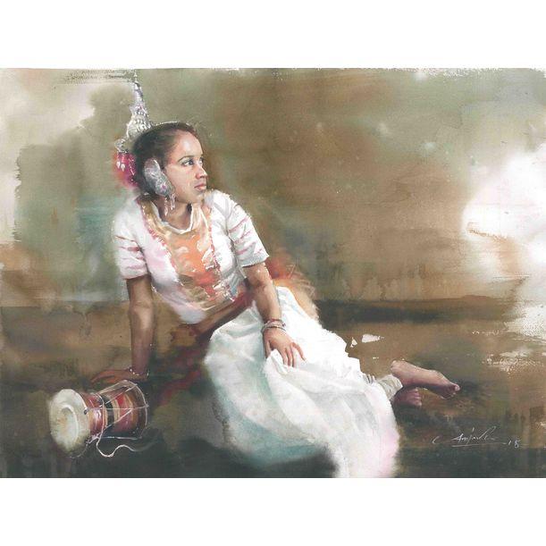 Silent drum by Asanka Wijerathna