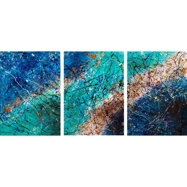 Art painting  I Triptych!! by Caroline Vis