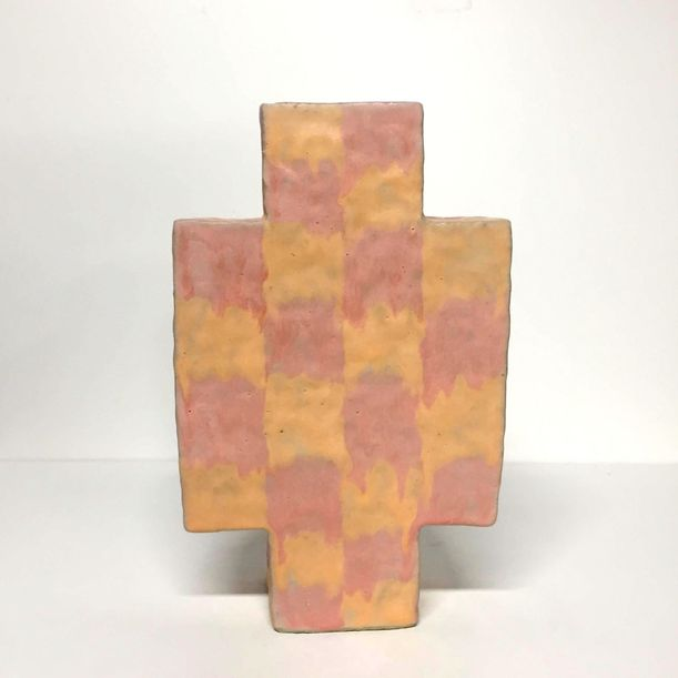 Square Checkered Vase by Kelsie Rudolph
