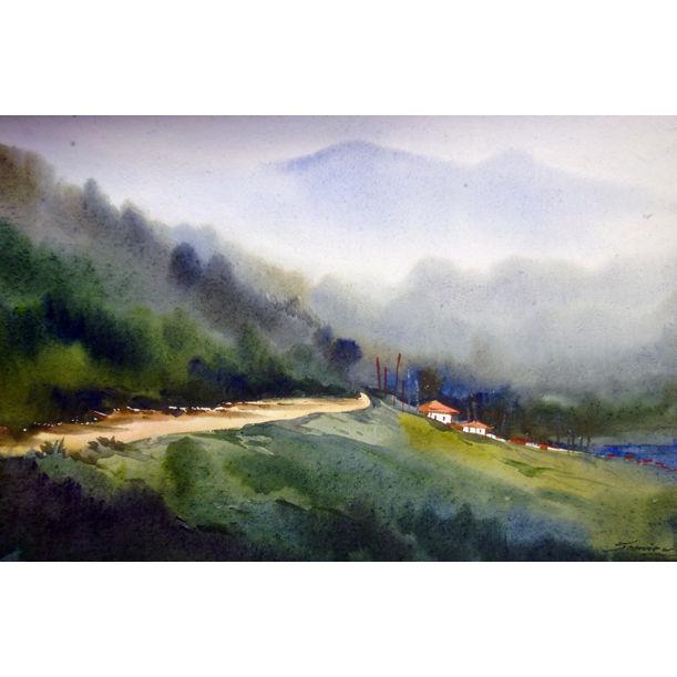 Beauty of Himalaya Mountain Landscape by Samiran Sarkar