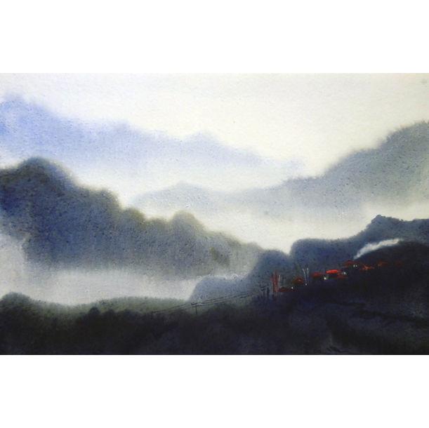Misty Himalaya Landscape by Samiran Sarkar