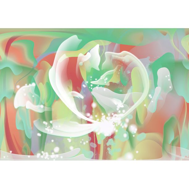 Abstract Dandelion by Irina Vladau