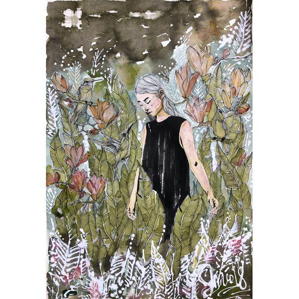 The Gardens Of Splendor No:1 by Erna Ucar