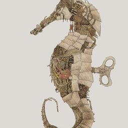 Steampunk Seahorse by Marilyn Lau