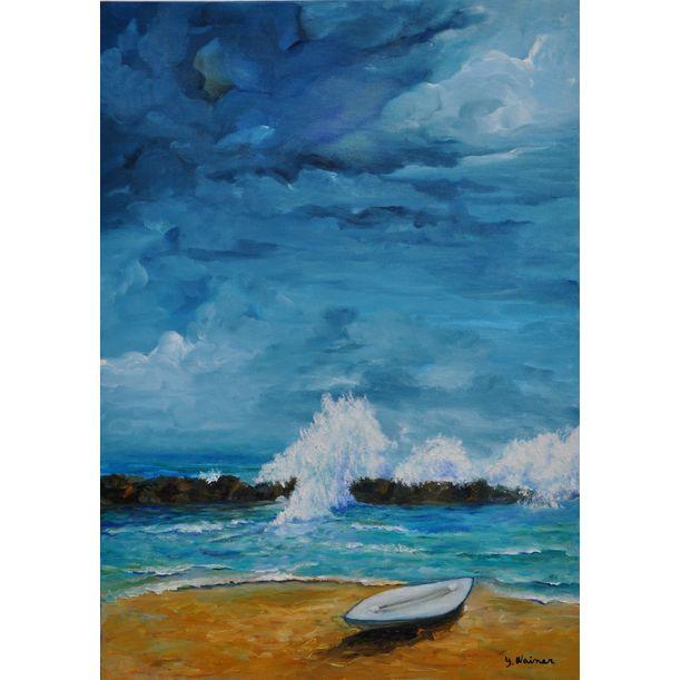 """Hasake"" surfboat by Yaffa Wainer"