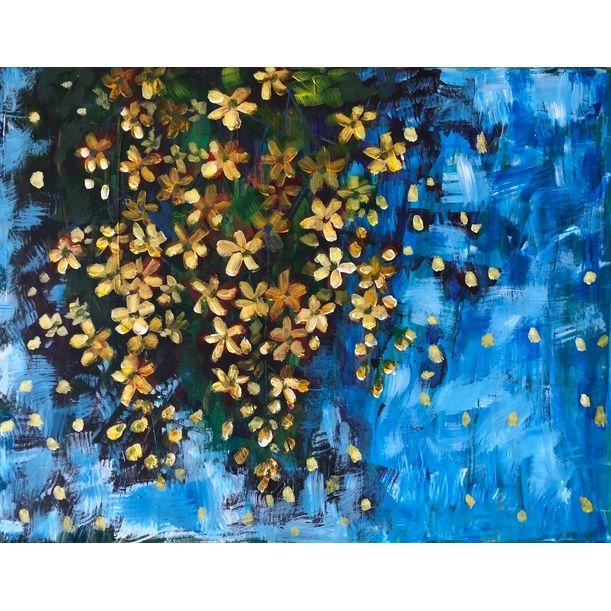 Yellow blooms 1 by Jayashree Bhat