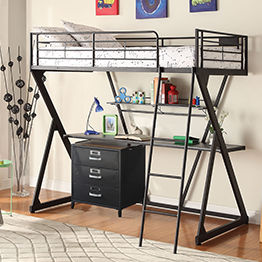 Show products in category Bunkbeds