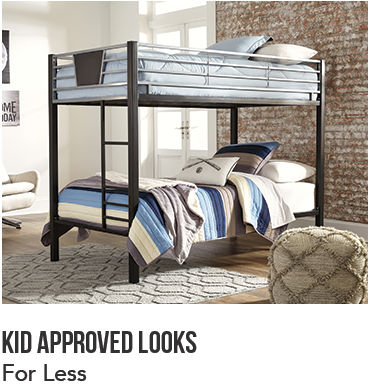 Children's Bedroom with Metal Bunkbed and Coordinated Bedding