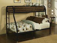 Black Metal Twin-Full Bunk Bed Frame
