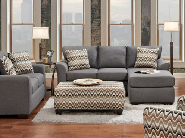 Picture of Cosmopolitan Grey Loveseat