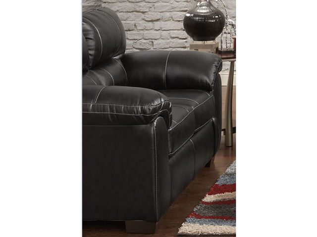 Picture of Austin Black Loveseat