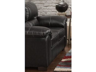 Austin Black Loveseat