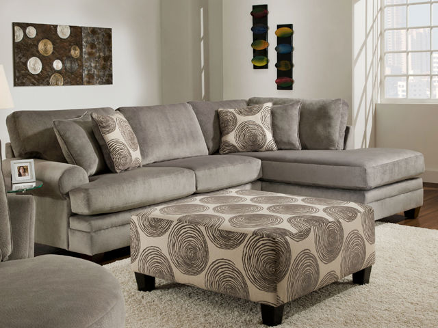 Picture of Groovy Smoke Sectional Right Side Chaise