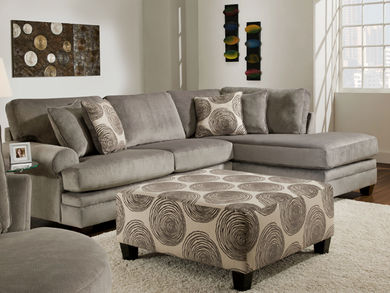 Groovy Smoke Sectional Right Side Chaise