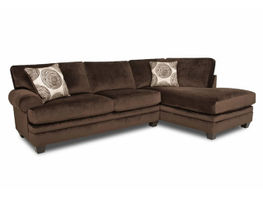 Groovy Chocolate Sectional Right Side Chaise