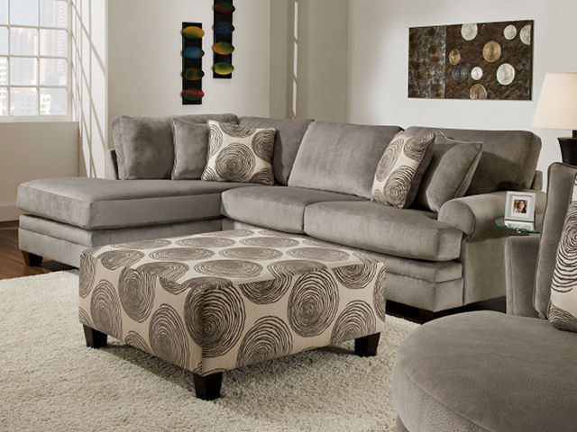 Picture of Groovy Smoke Sectional Left Side Chaise
