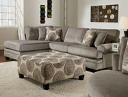 Groovy Smoke Sectional Left Side Chaise