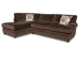 Groovy Chocolate Sectional Left Side Chaise