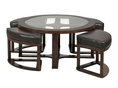 Marion Round Coffee Table with Four Stools