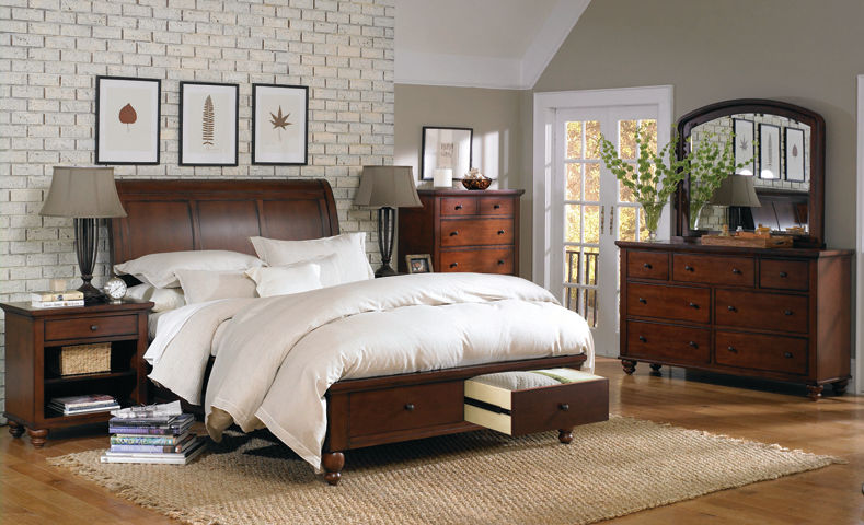 Picture of Cambridge Cherry Queen Drawer Bedroom Set