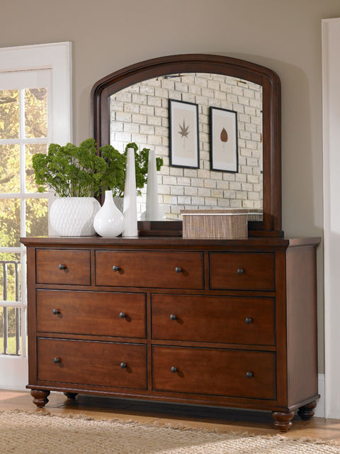 Picture of Cambridge Cherry King Drawer Bedroom Set