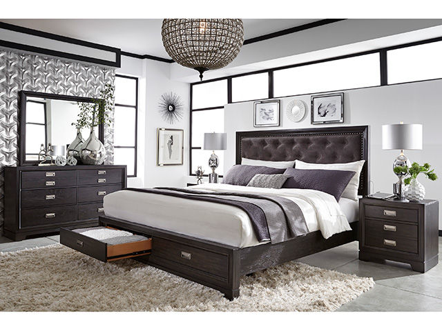 Front Street Upholstered King Bedroom Set