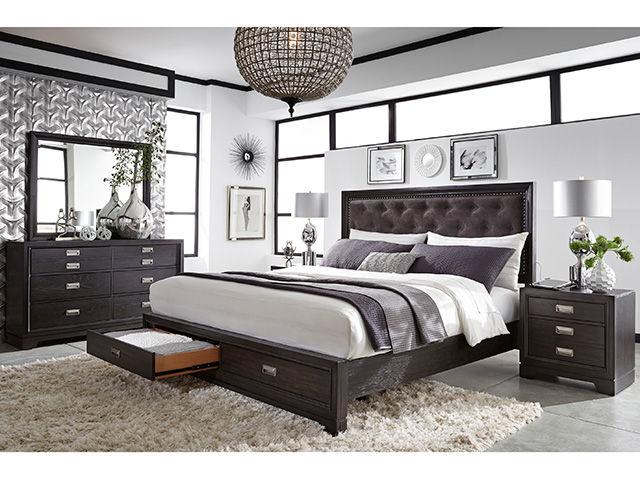 Picture of Front Street Queen Upholstered Bedroom Set