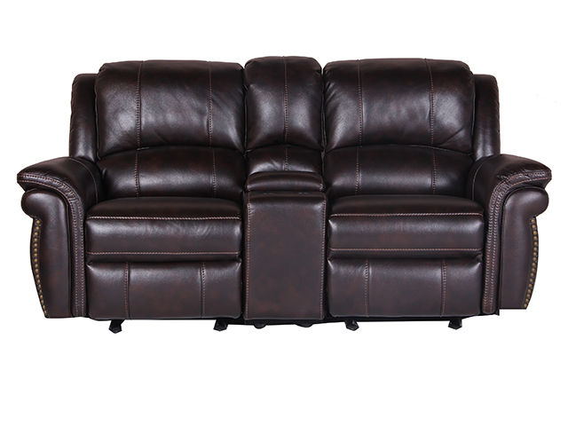 Alex Glider Reclining Console Loveseat The Furniture Mart