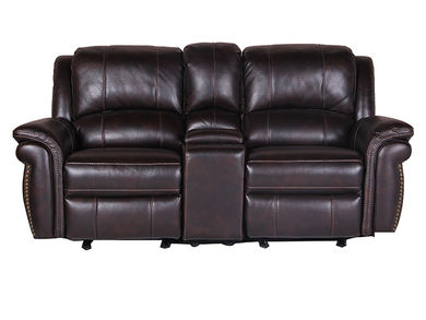 Alex Glider Reclining Console Loveseat