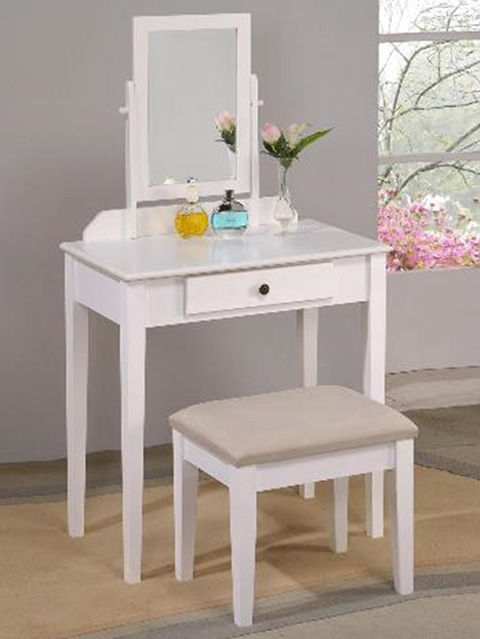 Picture of Iris White Vanity and Bench