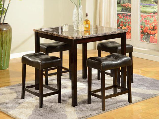 Picture of Kinsey Square Pub Table with Four Stools