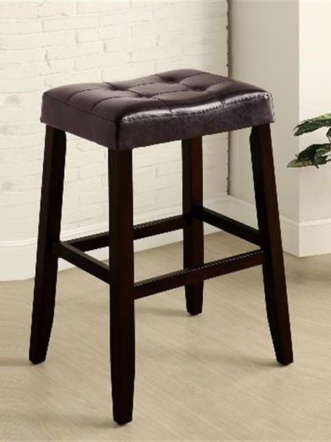 Kent 29 Inch Espresso Saddle Stool The Furniture Mart