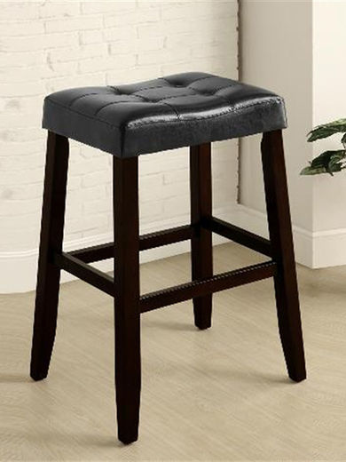 Kent Black 29 inch Saddle Stool