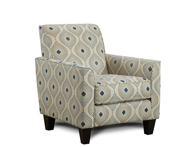 Electric Blue Accent Chair The Furniture Mart