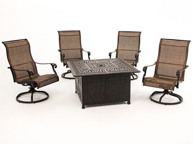 Picture of St Louis Firepit with Four Swivel Rockers