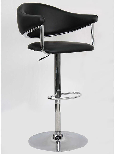 Picture of Airstream Gaslift Black Barstool