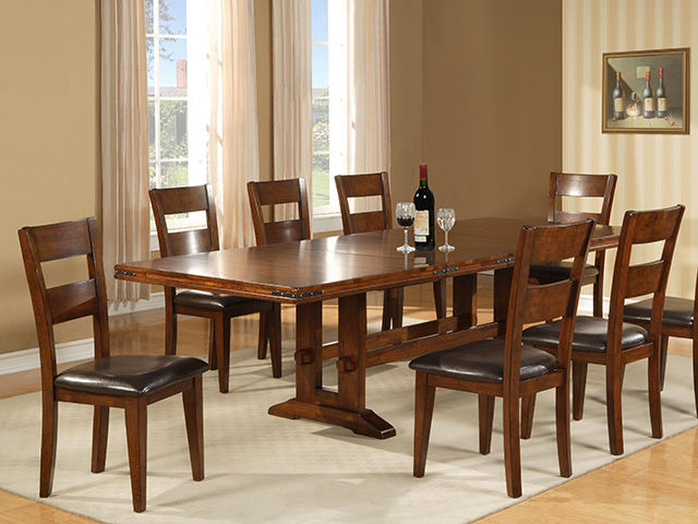 Picture of Antique Cherry Table with Four Chairs