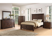 Easton Square Chocolate Queen Bedroom Set