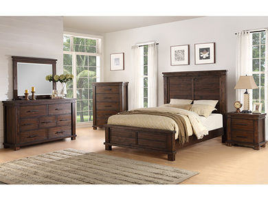 Easton Square Chocolate Queen Bedroom Set