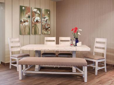 Terra White 79 Inch Dining Set