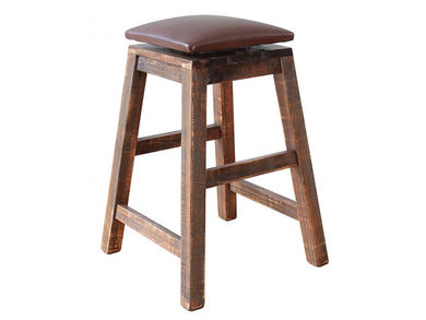 Pine 30 Inch Swivel Stool