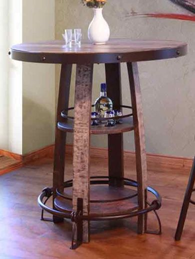 Antique Shelf Bistro Table