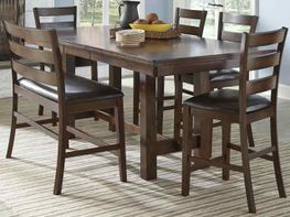 Kona 90 inch Counter Table with Four Stools