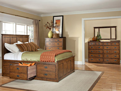 Oak Park Queen Storage Bedroom Set