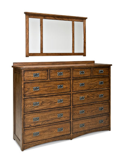 Oak Park Dresser and Mirror